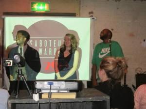 Shake the Dust represented by Sam-La Rose, Kareem Parkins-Brown and Charlotte Higgins (photo Dan Holloway)