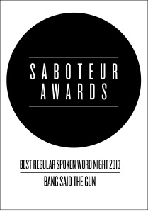 saboteur awards - regular spoken word night